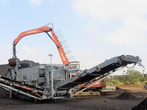 tracked mobile ore crushing plant